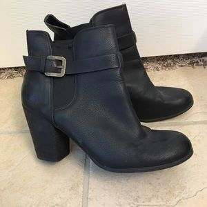 Abound black ankle booties with buckle size 10